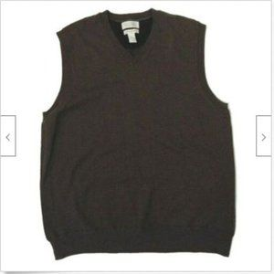 Banana Republic brown cashmere v-neck sweater vest
